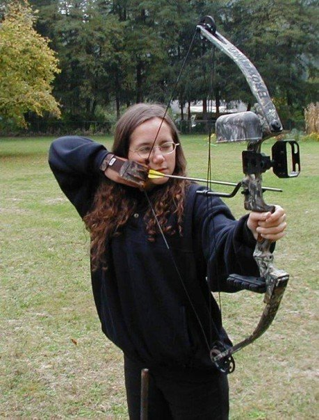 This is me with my very first bow, a Browning Compound.