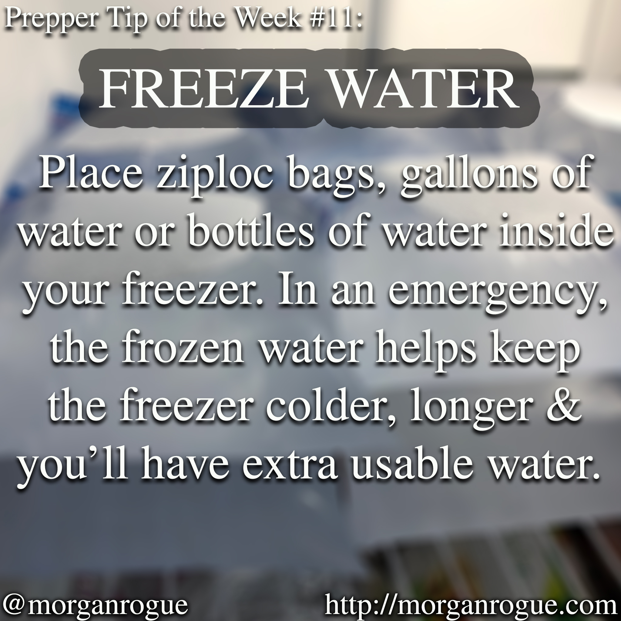 Prepping Tip of the Week 12/22/17 – Freeze Water for Emergencies