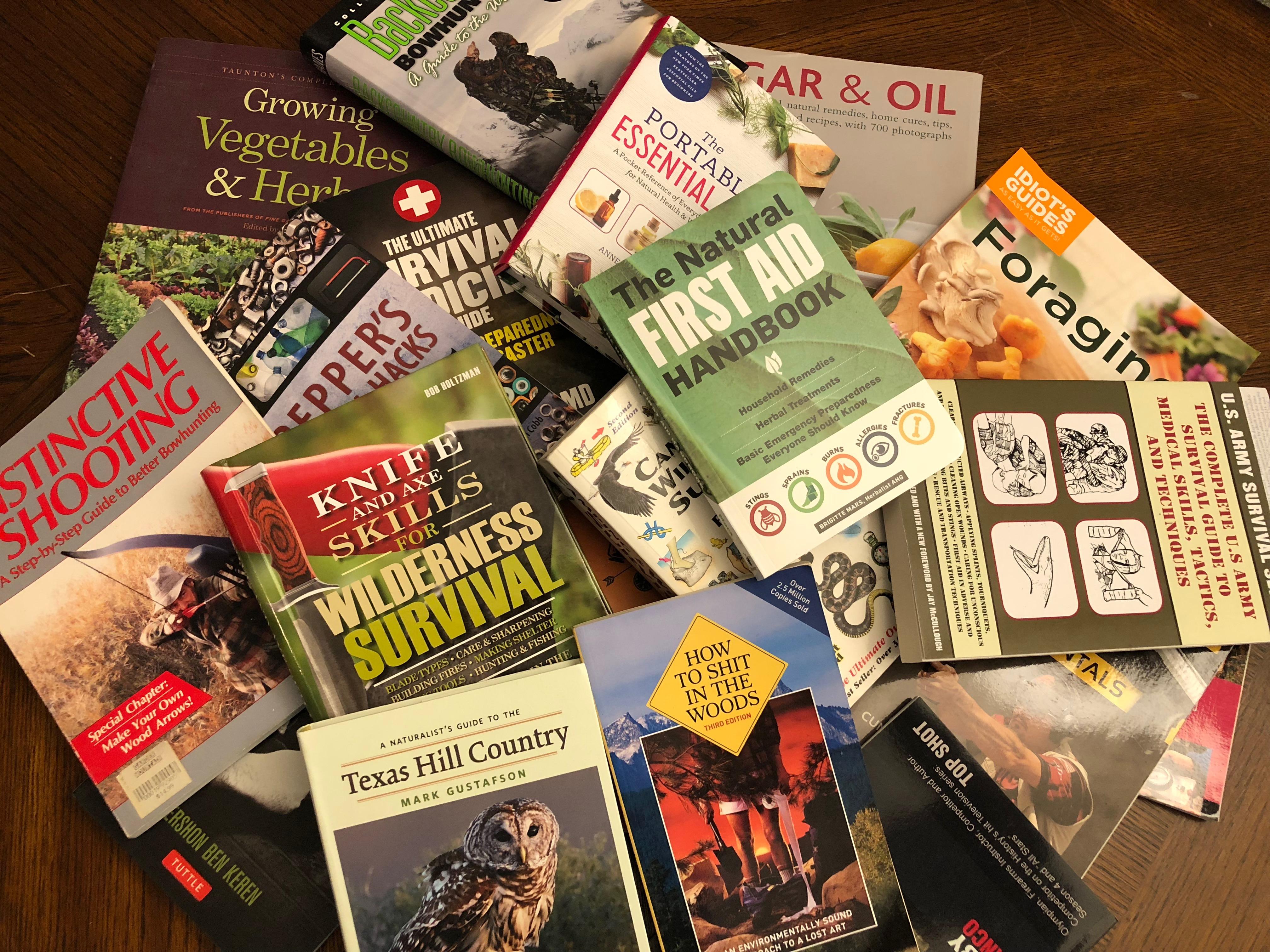 Top 20 Books on Preparedness/Survival/Real World