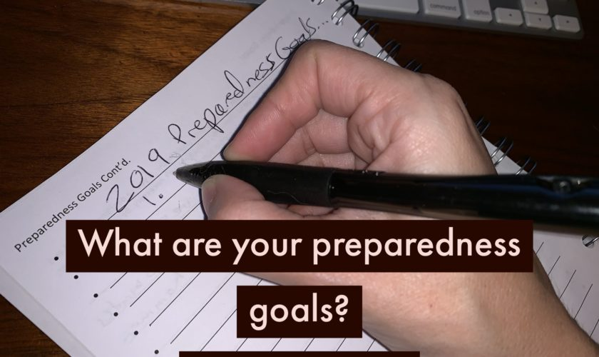Creating & Maintaining Preparedness Goals + FREE Download