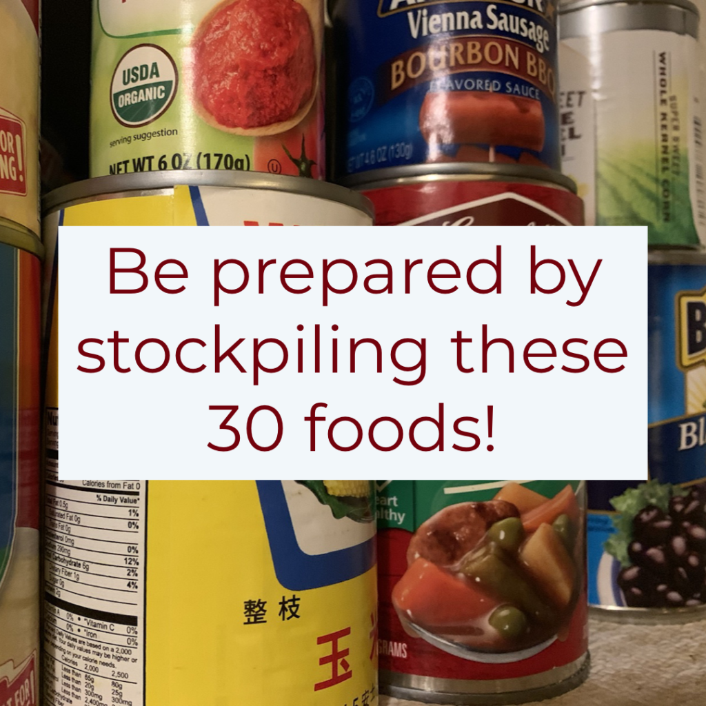 food to stockpile for emergencies