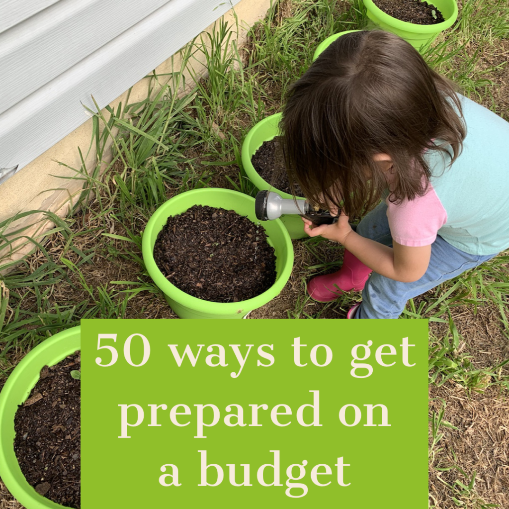 how to get prepared on a budget