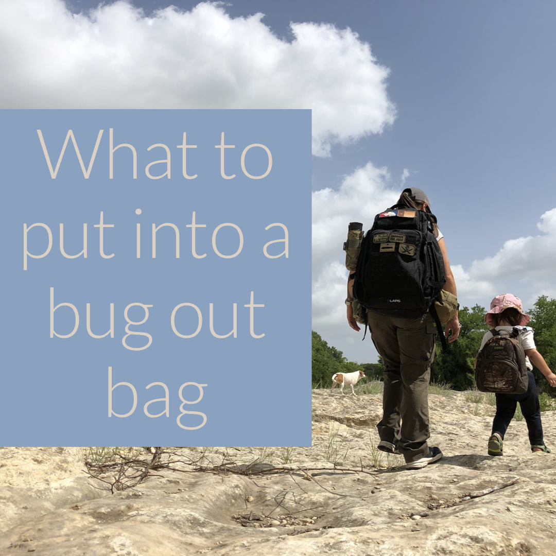 what to put into a bug out bag
