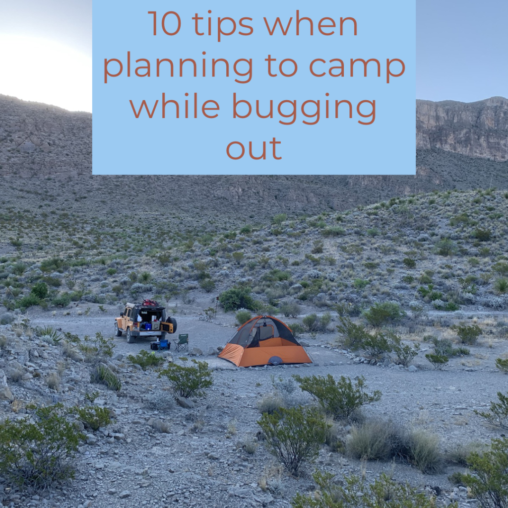 bug out camping
