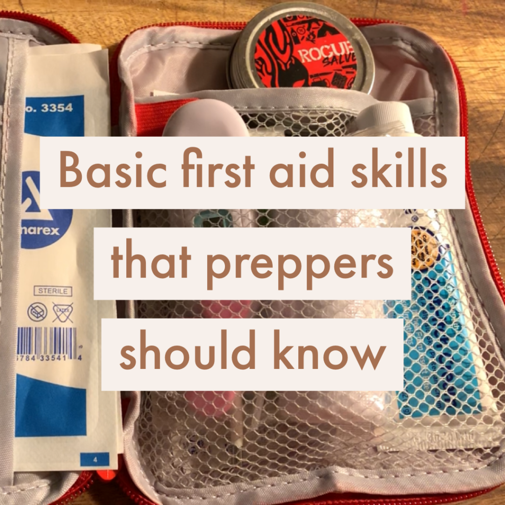 basic first aid skills preppers