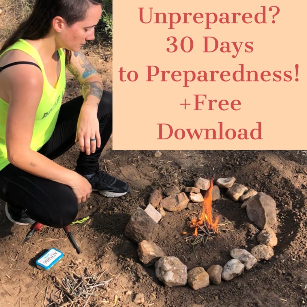 get prepared 30 days to preparedness