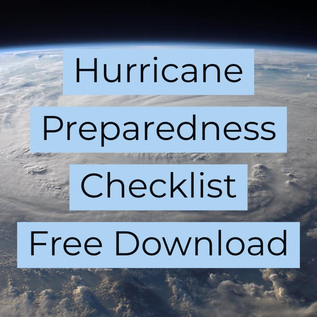free hurricane checklist