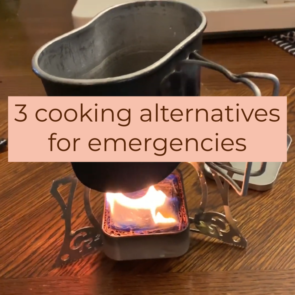 cooking alternatives for emergencies and disasters