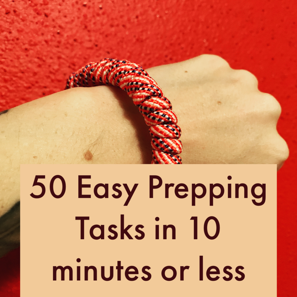easy prepping preparedness tasks