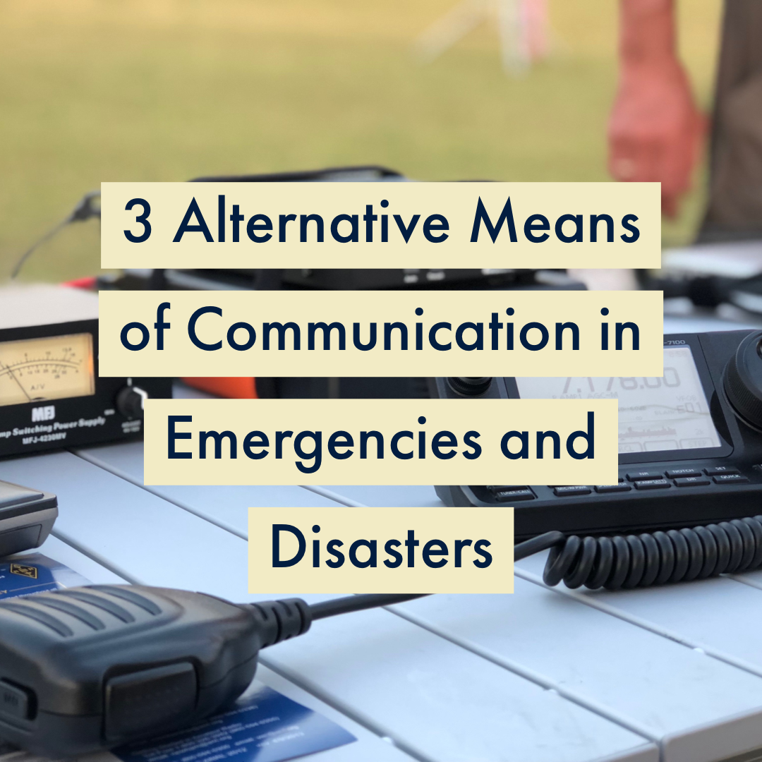 communication during emergency or disaster